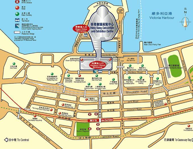 香港会展中心地图